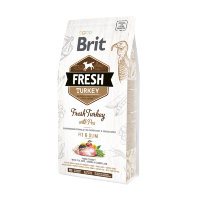 Brit Fresh Light Fit & Slim Turkey with Pea сух. корм д/собак контроль веса, индейка с горохом