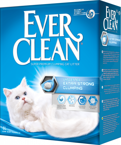 EVER CLEAN Extra Strong Clumping Unscented Наполнитель д/кошек без ароматизатора
