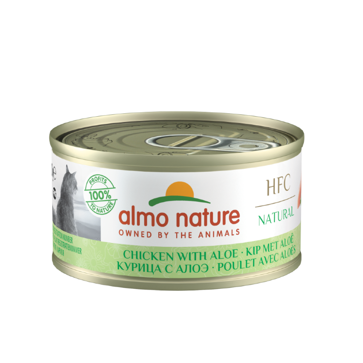 "ALMO NATURE Legend HFC низкокалорийные консервы для кошек ""Курица с алоэ"""